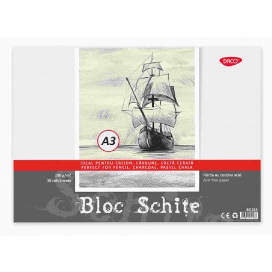 Bloc a3 schite 150g 30 file daco bd315