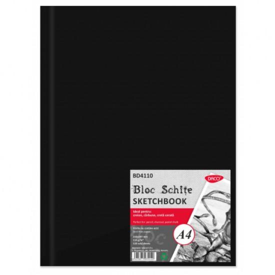 Bloc a4 schite 110g 110 file daco bd4110