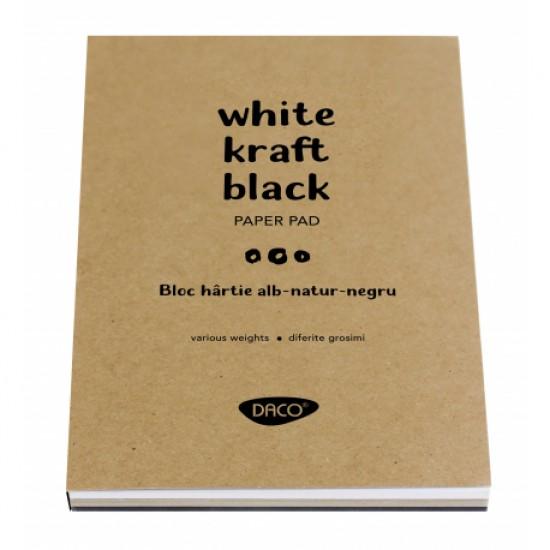 Bloc a5 alb-natur-negru 60 file daco bd503
