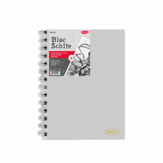 Bloc a5 schite 120g 80 file daco bd512
