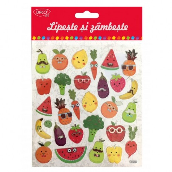 Abtibild - ab026 fructe si legume lipeste si zambeste daco