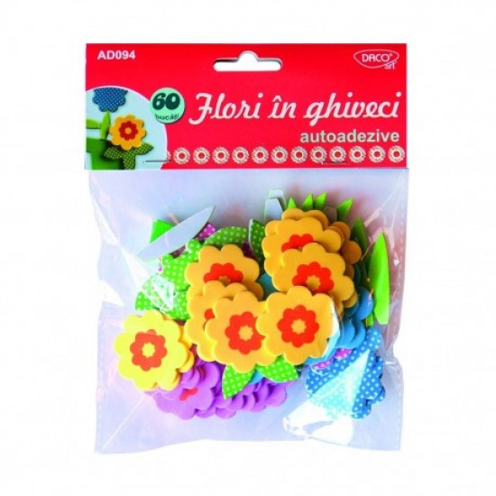 Accesorii craft - ad094 flori in ghiveci spuma aa