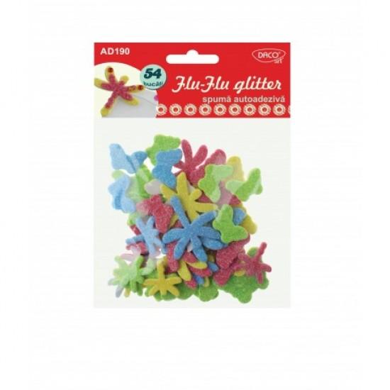 Accesorii craft - ad190 flu-flu glitter spuma aa daco