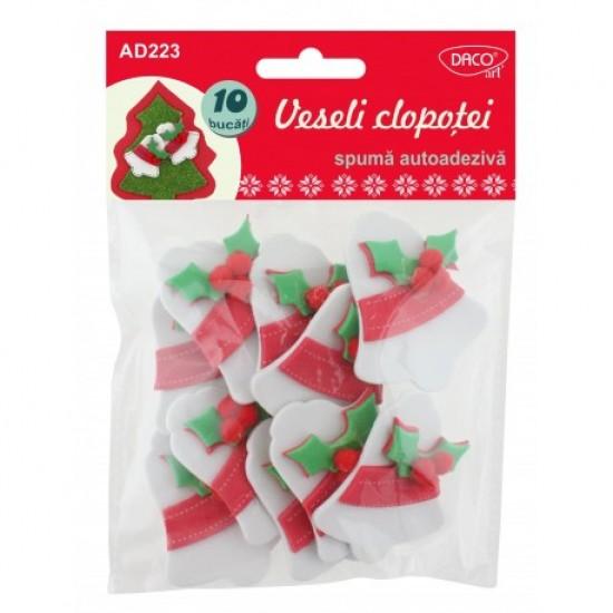 Accesorii craft - ad223 veseli clopotei spuma 3d aa
