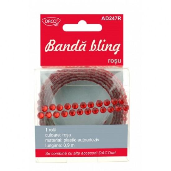 Accesorii craft - ad247r banda bling rosu daco