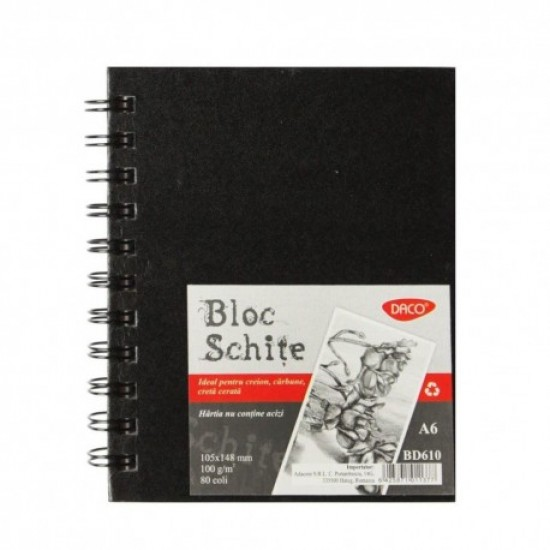 Bloc a6 schite 100g 80 file daco bd610