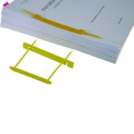 Alonje indosariere Dossy Fix galben capacitate 500 coli pentru cutii de arhivare plastic 25 buc/um