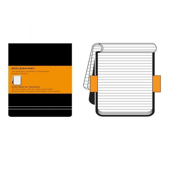Agenda Moleskine Ruled Reporter Notebook Pocket, 14 x 9 cm, dictando, 192 file