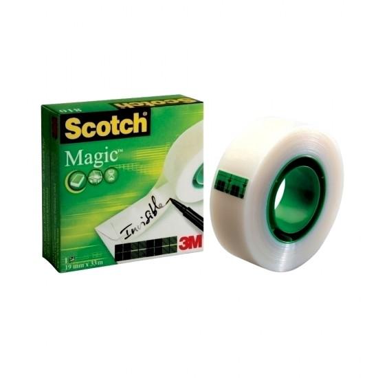 Banda adeziva Scotch Magic, 19 mm x 33 m, 6 role + 2 gratis