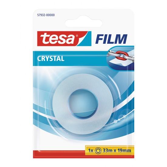 Banda adeziva Tesa Crystal, 19 mm x 33