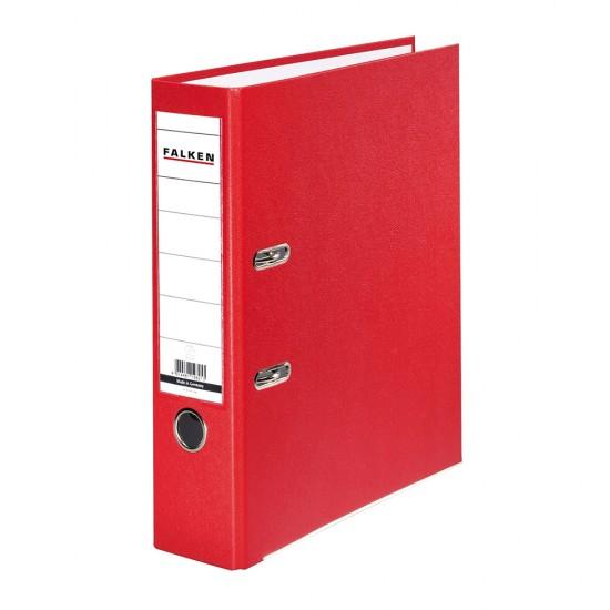 Biblioraft Falken plastifiat, 80 mm, rosu