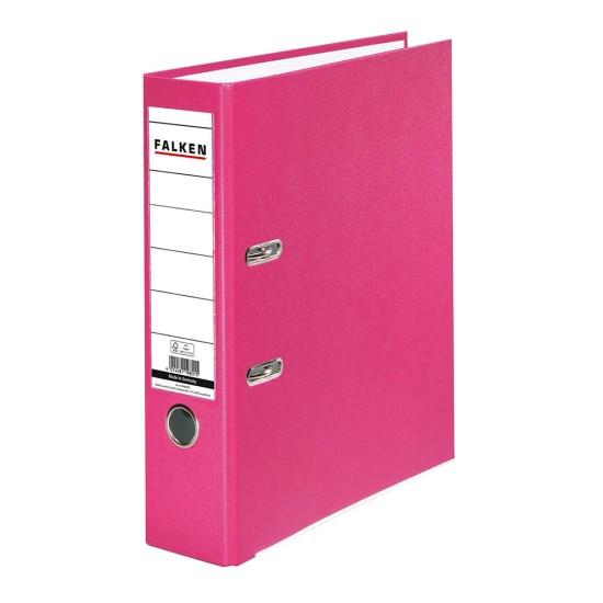 Biblioraft Falken plastifiat, 80 mm, roz