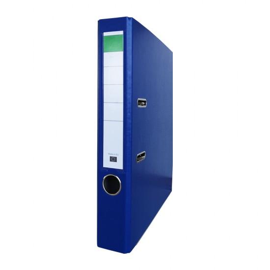 Biblioraft PP/carton, 50 mm, albastru inchis