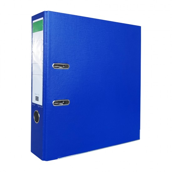 Biblioraft PP/carton, 75 mm, albastru inchis