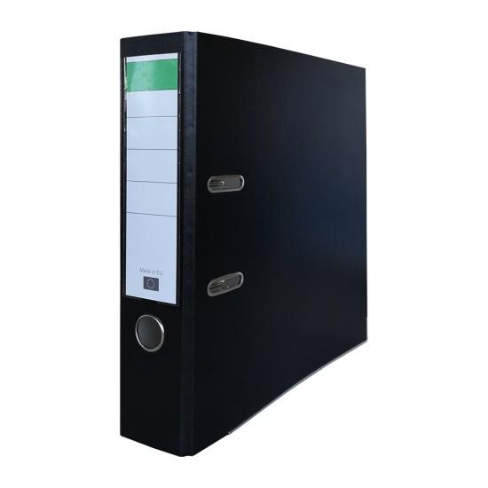 Biblioraft PP/carton, 75 mm, negru
