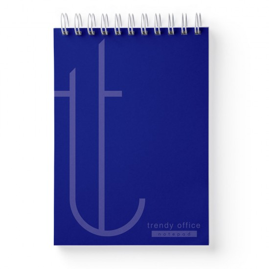 Bloc notes, Trendy, cu spira, A5, 70 file, matematica