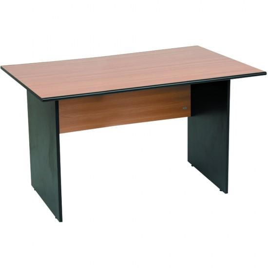 Birou Office Line, PAL, stejar/negru, 120x80x75 cm