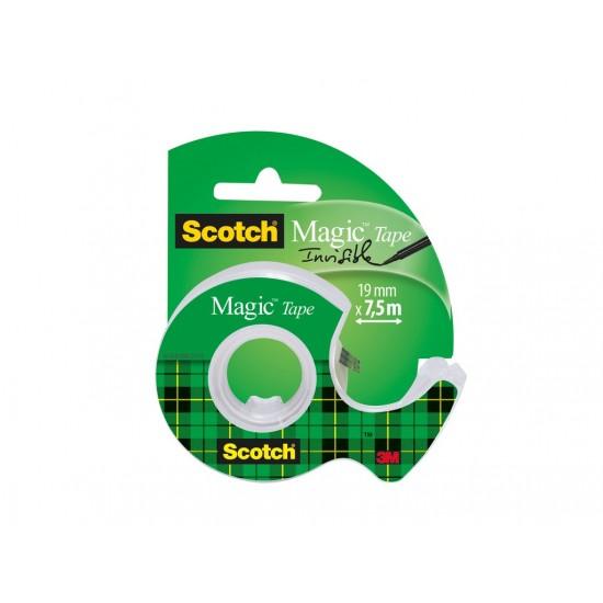 Bandă adezivă Scotch® Magic™ cu dispenser