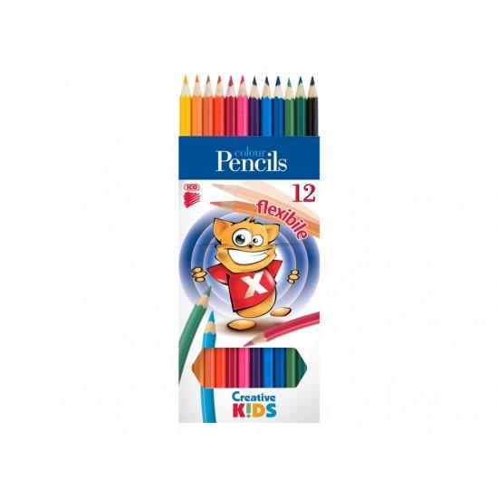 Creioane color flexibile Creative Kids