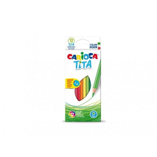 Creioane color Tita Clasic 12/set