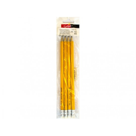 Creion cu gumă Scriva 4/set