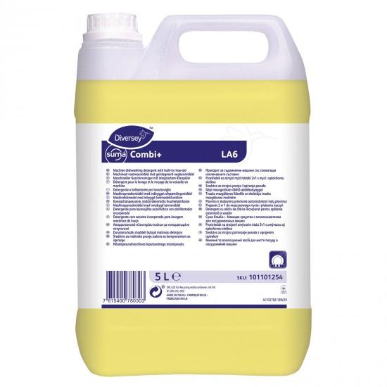Detergent si aditiv clatire masina de spalat vase SUMA Combi LA6, Diversey, 5L