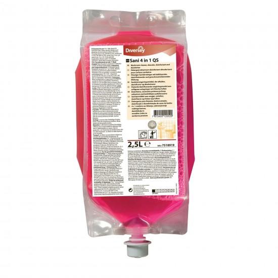 Detergent detartrant dezinfectant TASKI Sani 4 in 1 QS, Diversey, 2.5L