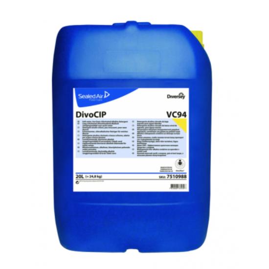 Detergent alcalin clorinat DIVOCIP, Diversey, 20L