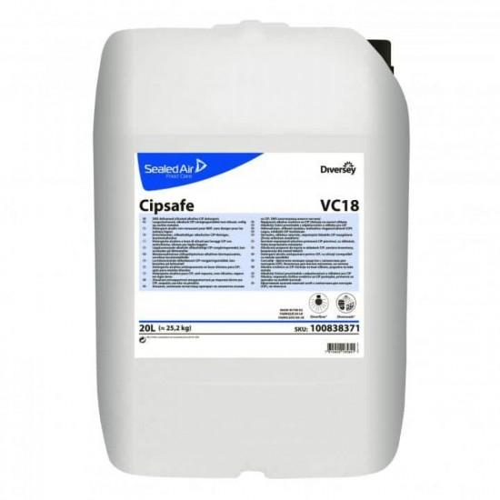 Detergent alcalin cu spumare redusa Cipsafe, Diversey, 20L