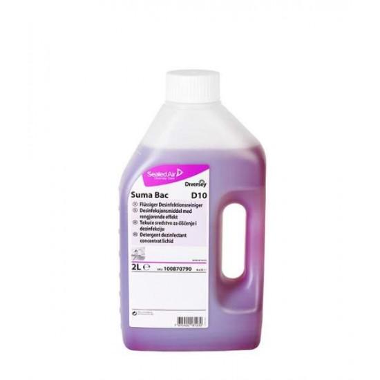 Detergent dezinfectant bucatarie SUMA Bac D10, Diversey, 2L