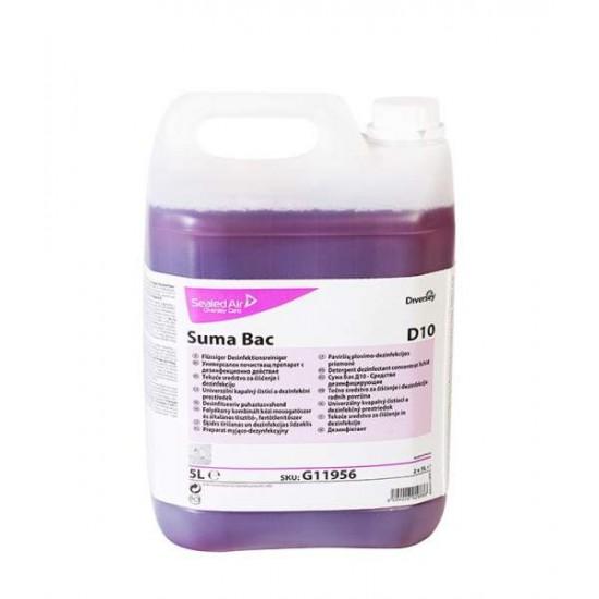 Detergent dezinfectant bucatarie SUMA Bac D10, Diversey, 5L