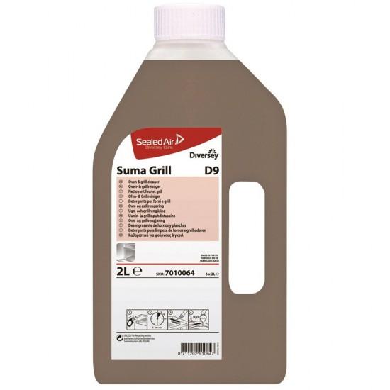 Detergent puternic bucatarie SUMA Grill D9, Diversey, 2L