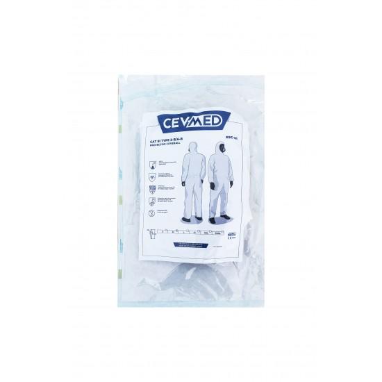 Combinezon protectie steril alb, ambalat individual, 55-60 gr/mp, Type 5-6