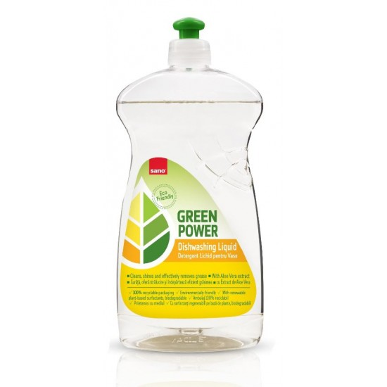 Detergent lichid pentru vase SANO Green Power DISHWASHING Liquid, 700ml