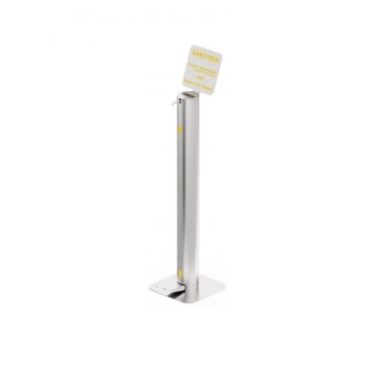 Sistem dozator din inox pentru dezinfectant, actionare cu piciorul