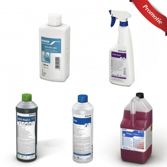 Pachet 5 solutii pentru dezinfectare si curatenie Ecolab