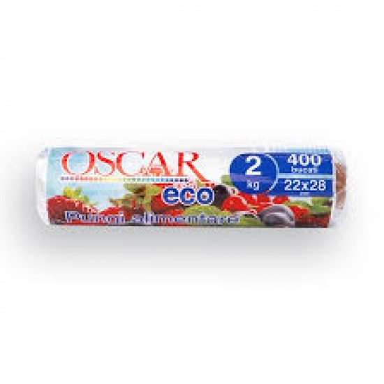 Pungi alimentare ECO Oscar, 400buc/rola, 2kg