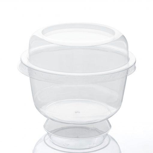 Cupa Cu Picior + Capac 200 Ml 25 Buc/Set sanito.ro