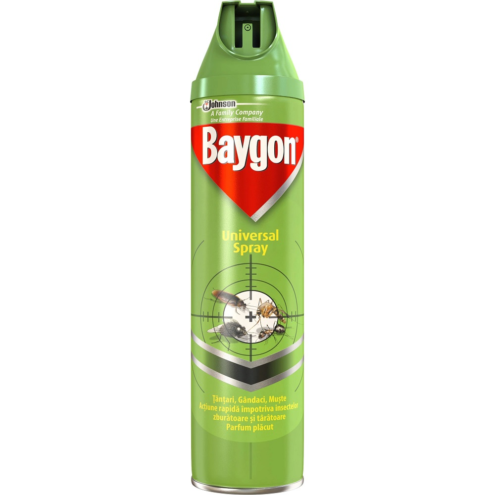 Baygon Spray Universal Insecticid 400 Ml 2021 sanito.ro