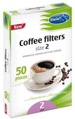 Stella Filtru Cafea Nr.2 50/Set sanito.ro
