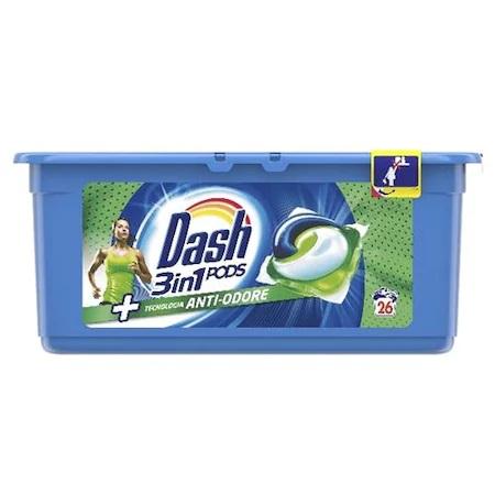 Dash Anti Odore Detergent De Rufe Capsule 26 Buc/Set sanito.ro