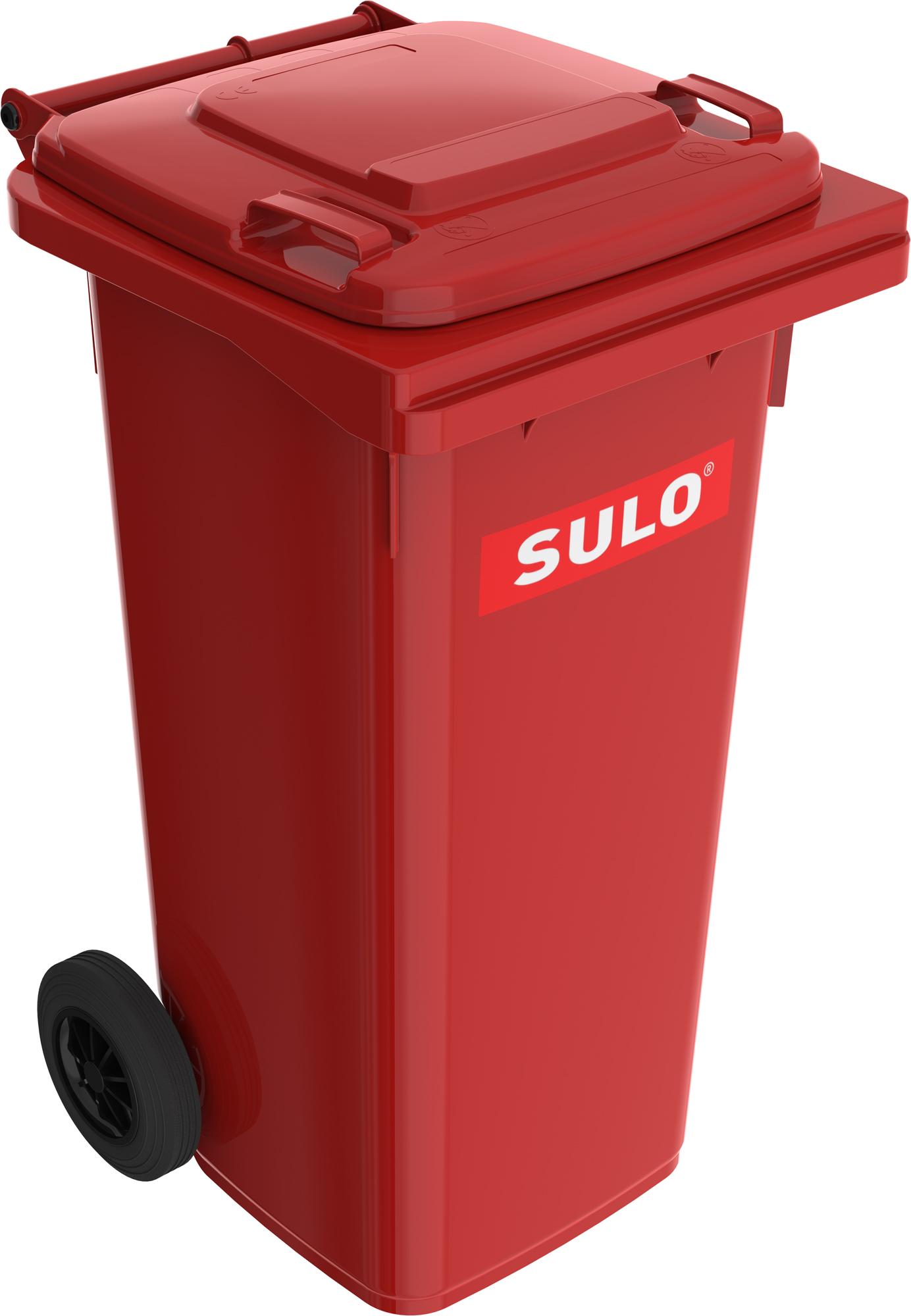 Europubela Din Material Plastic 120 L Culoare Rosie Mevatec - Transport Inclus 2021 sanito.ro