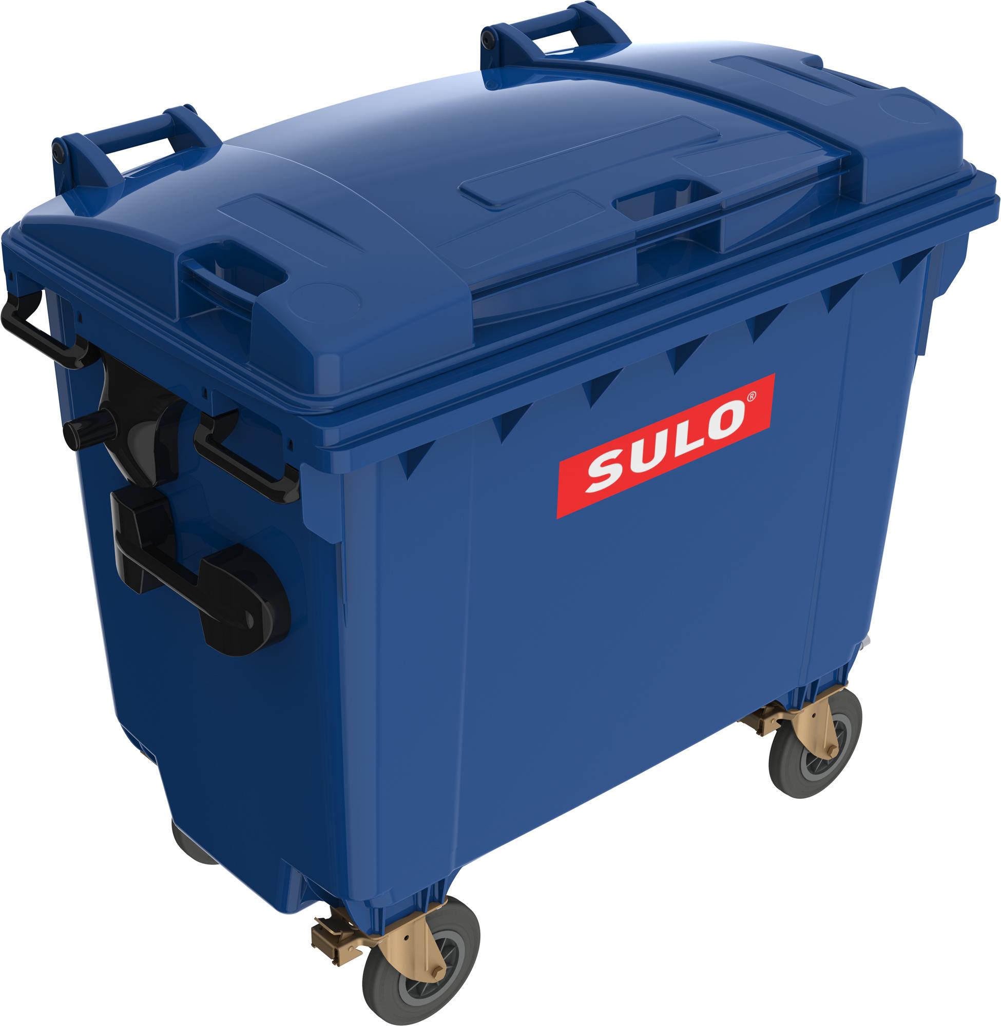 Eurocontainer Din Material Plastic 660 L Albastru Cu Capac Plat Mevatec - Transport Inclus 2021 sanito.ro