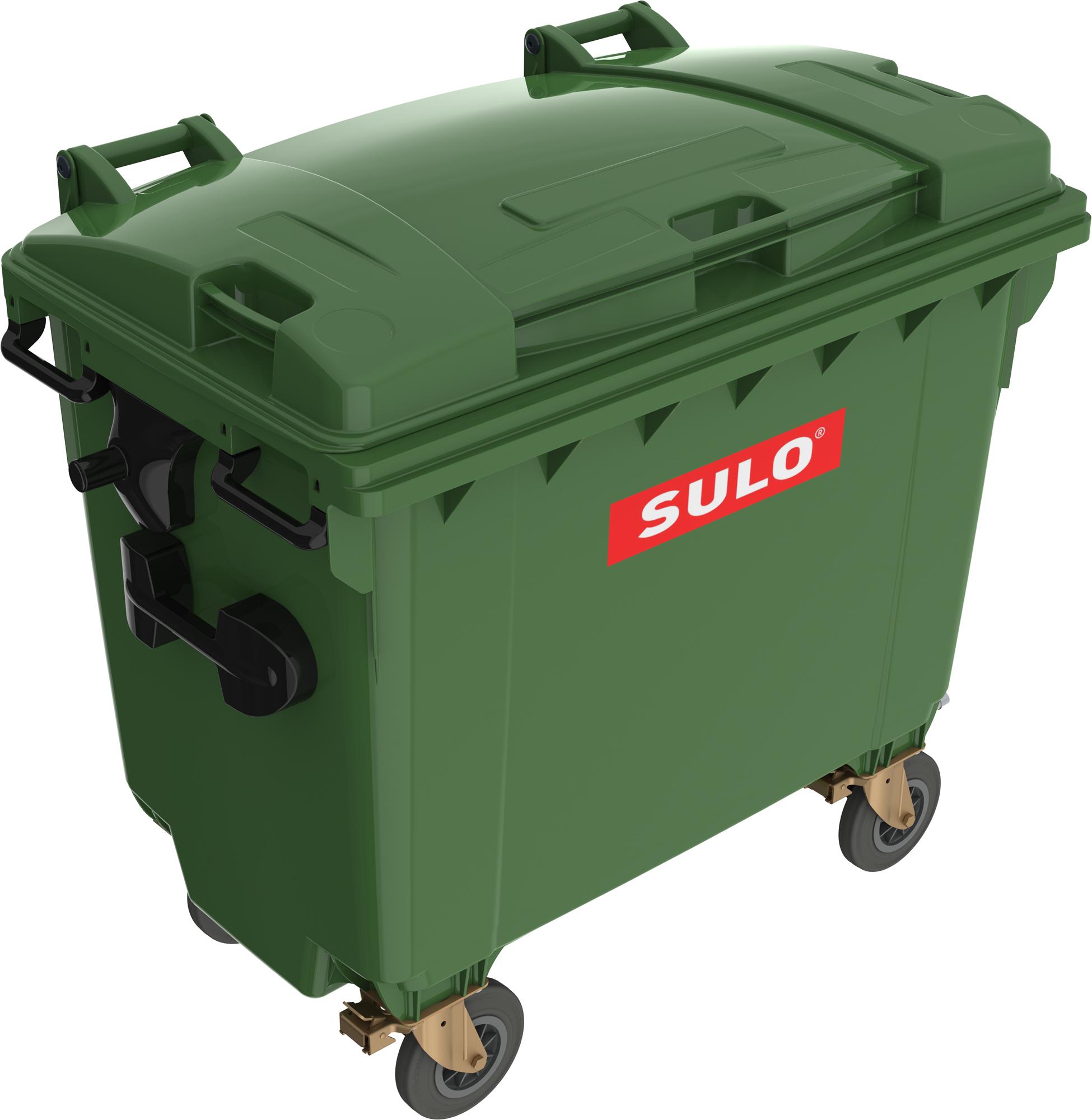 Eurocontainer Din Material Plastic 660 L Verde Cu Capac Plat Mevatec - Transport Inclus 2021 sanito.ro