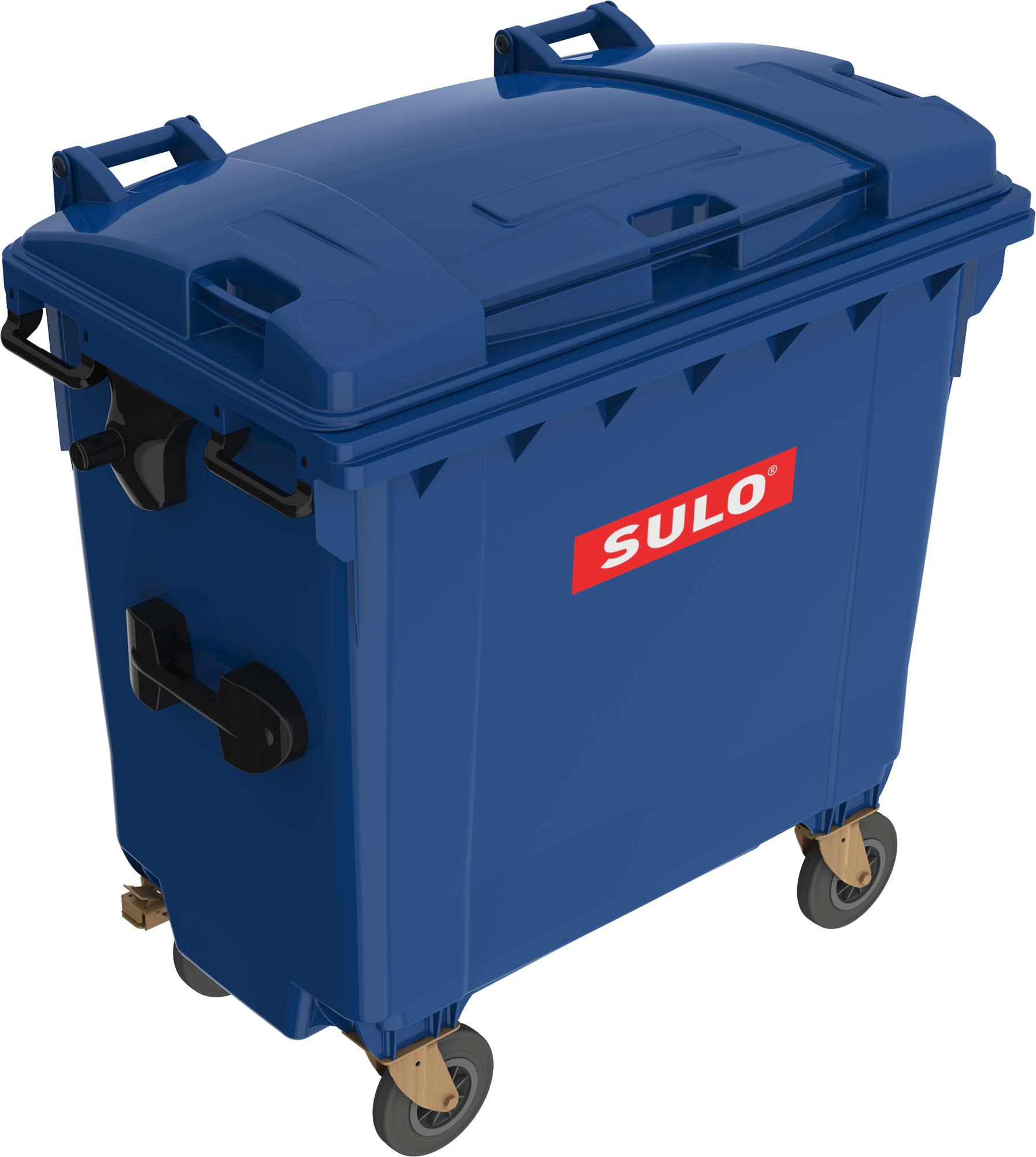 Eurocontainer Din Material Plastic 770 L Albastru Cu Capac Plat Mevatec - Transport Inclus 2021 sanito.ro