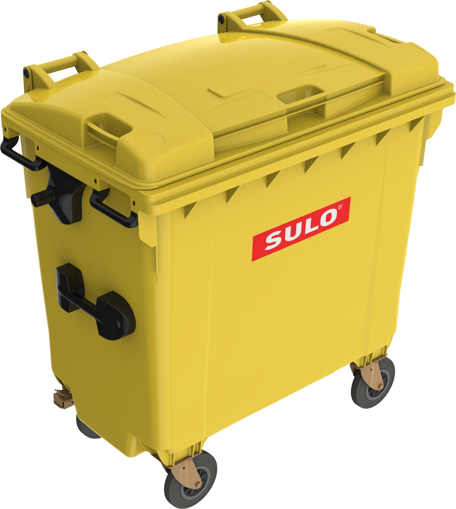 Eurocontainer Din Material Plastic 770 L Galben Cu Capac Plat Mevatec - Transport Inclus 2021 sanito.ro