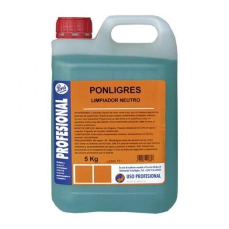 Ponligres-Detergent Automat Concentrat Pentru Pardoseala Cu Parfum De Citrice 5l Asevi sanito.ro