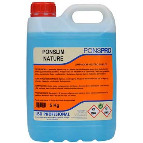 Ponslim Nature Manual -detergent Profesional Universal Concentrat Pentru Pardoseli 5l Asevi sanito.ro