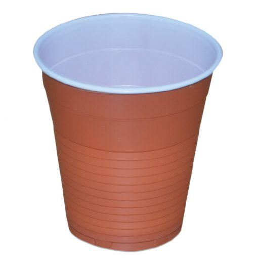 Pahare Din Plastic Pentru Cafea 166 Ml Bicolore 100 Buc/Set sanito.ro