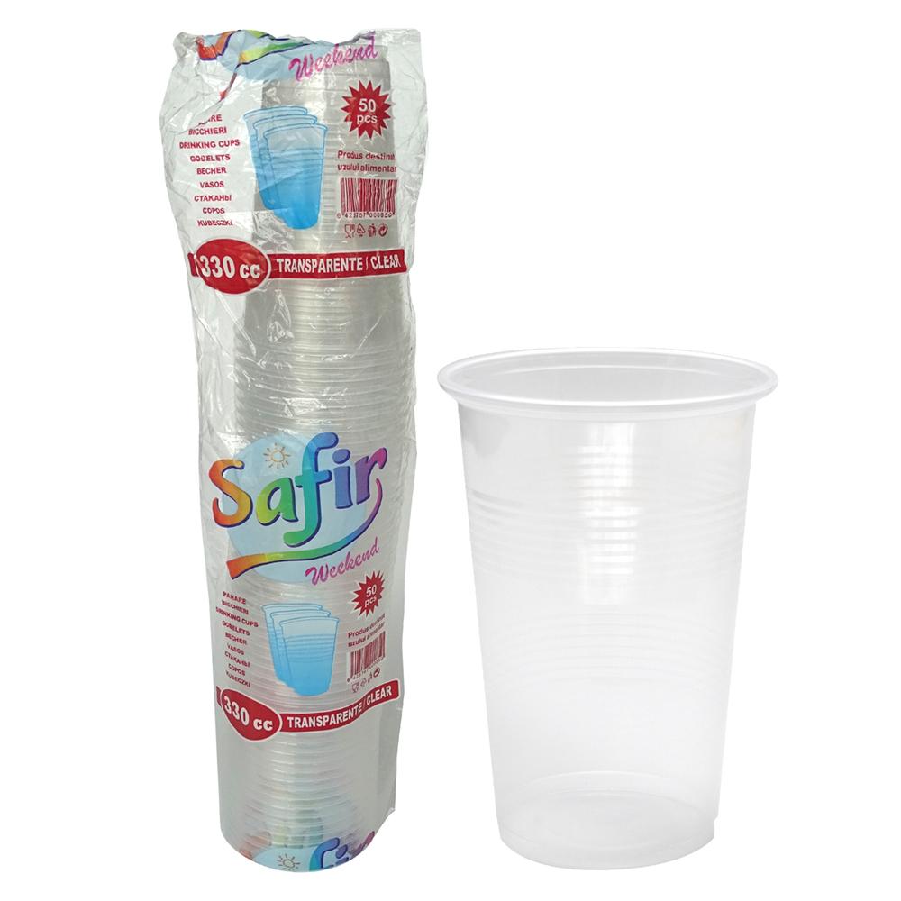 Pahare Plastic 330 Cc 50 Buc/Set 2021 sanito.ro
